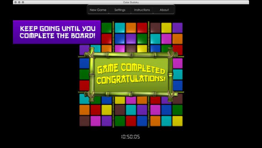 Color Sudoku for Mac - review, screenshots