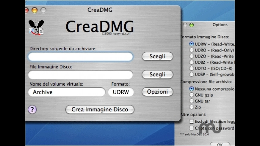 CreaDMG for Mac - review, screenshots