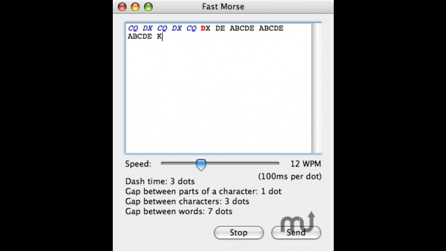 Fast Morse for Mac - review, screenshots