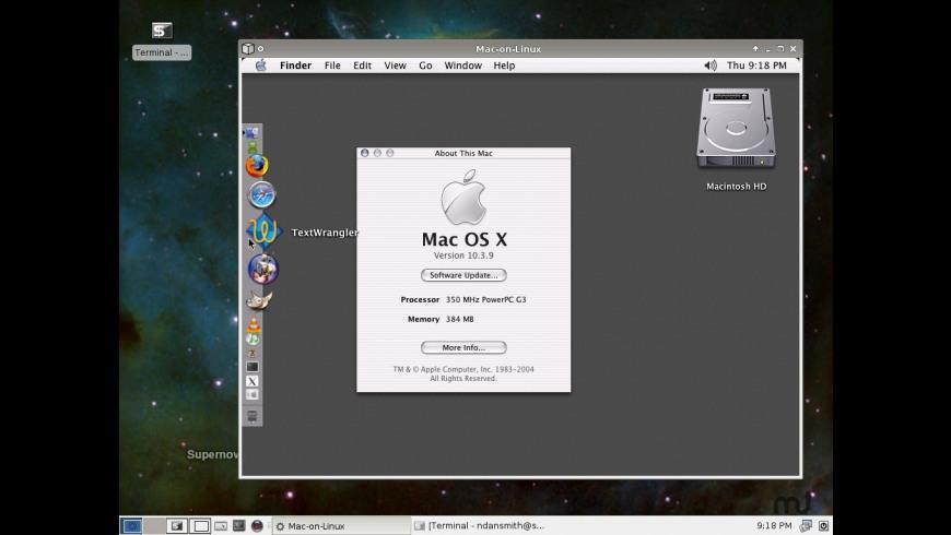 Mac-on-Linux for Mac - review, screenshots