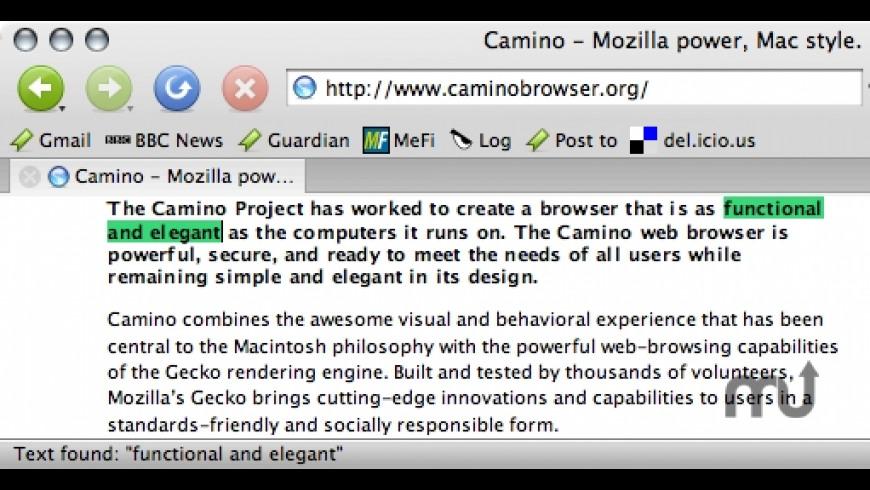 CaminoSpace for Mac - review, screenshots