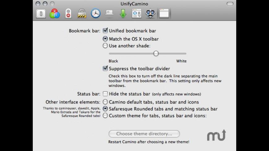 UnifyCamino for Mac - review, screenshots