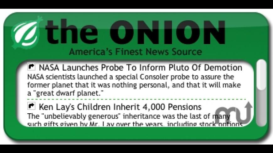 The Onion Headlines Widget for Mac - review, screenshots