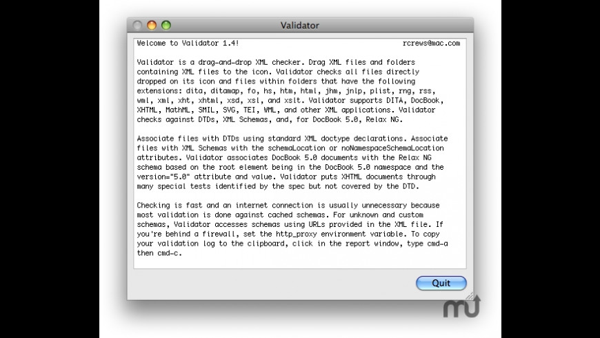 Validator for Mac - review, screenshots
