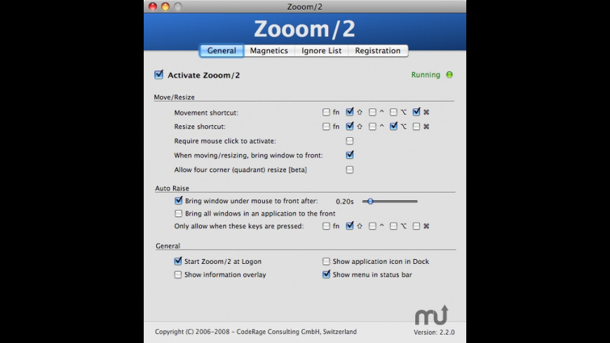 Zooom for Mac - review, screenshots