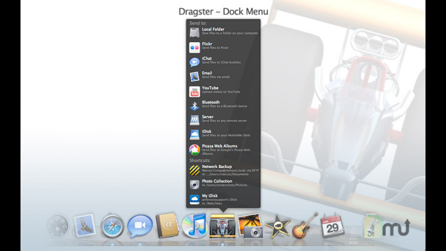 Dragster for Mac - review, screenshots