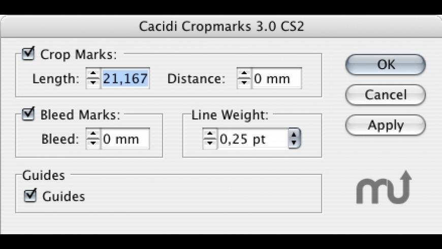 Cacidi Cropmarks for Mac - review, screenshots