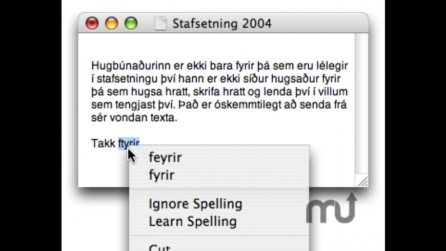 Stafsetning 2004 for Mac - review, screenshots