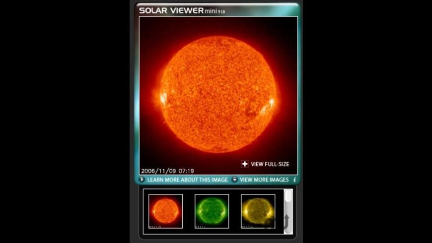 Solar Viewer for Mac - review, screenshots