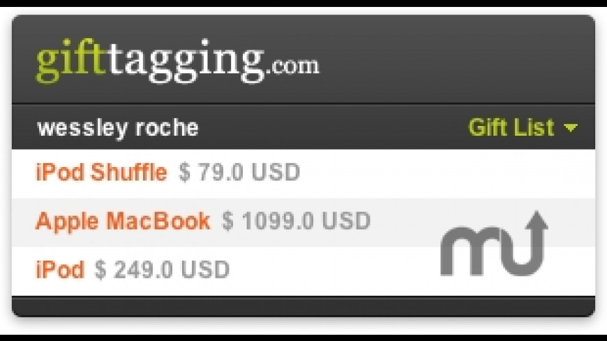 GiftTagging Widget for Mac - review, screenshots