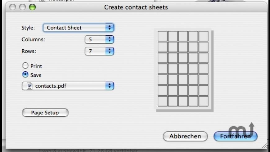Create Contact Sheets for Mac - review, screenshots