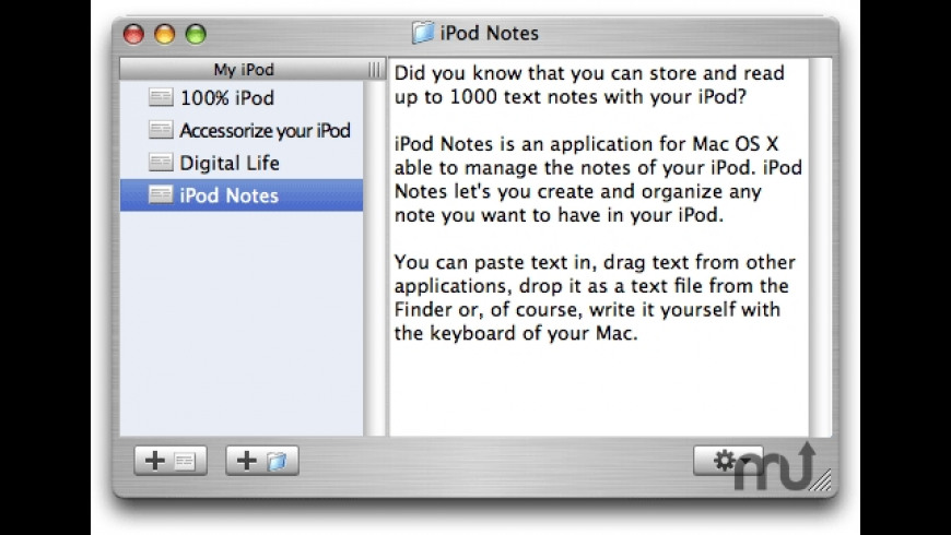 iPod Notes for Mac - review, screenshots