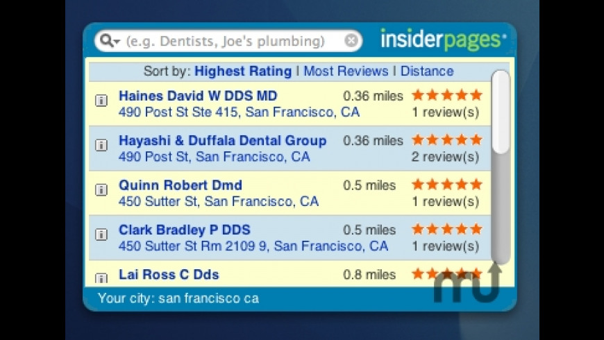 InsiderPages Widget for Mac - review, screenshots