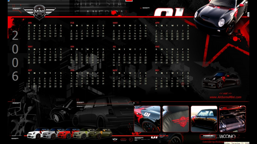 Airborne Mini Calendar for Mac - review, screenshots