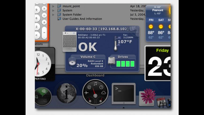 ReadyNAS RAIDar Widget for Mac - review, screenshots