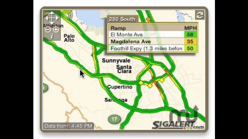 SigAlert Traffic Maps Widget for Mac - review, screenshots