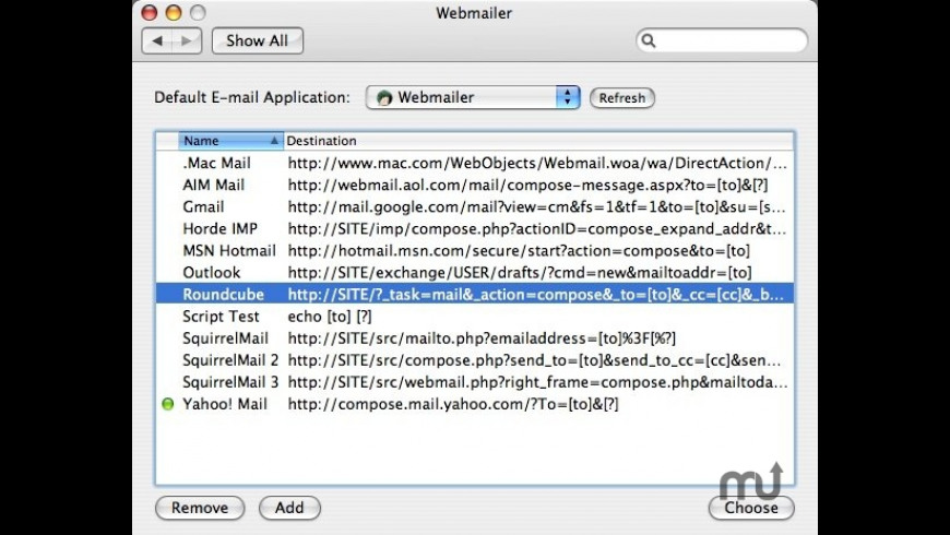 Webmailer for Mac - review, screenshots