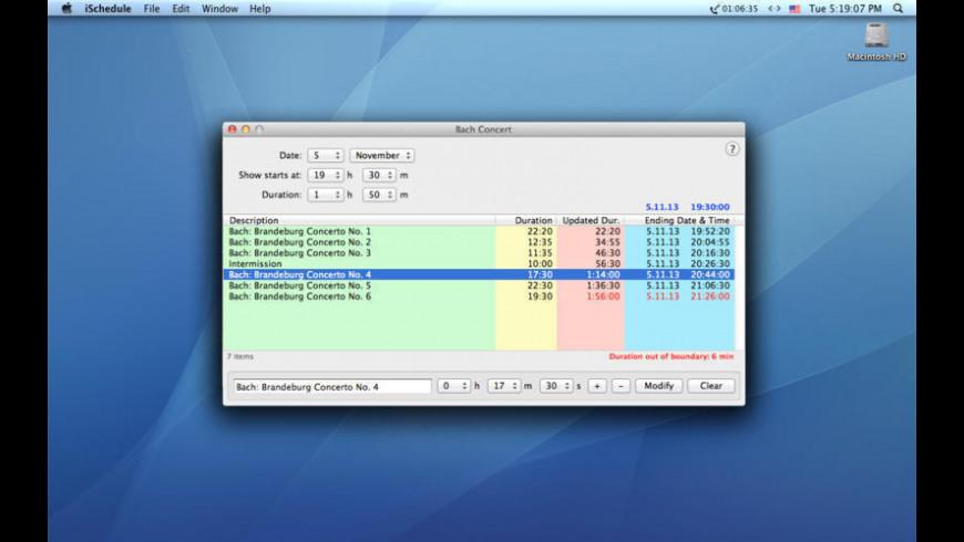 iSchedule for Mac - review, screenshots