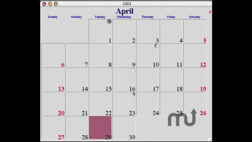 My Calendar 2008 for Mac - review, screenshots