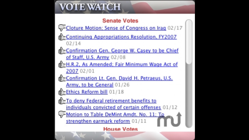 VoteWatch for Mac - review, screenshots