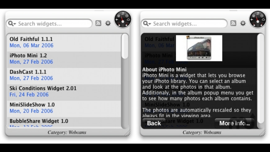 More Widgets for Mac - review, screenshots