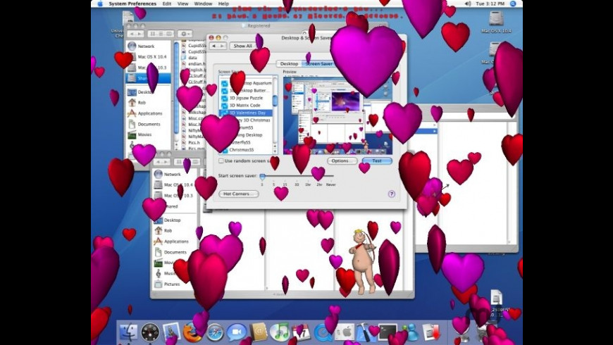 Cupid's 3D Valentine's Day Slideshow Screen Saver for Mac - review, screenshots