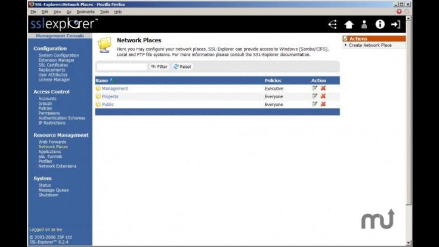 SSL-Explorer Community Edition for Mac - review, screenshots
