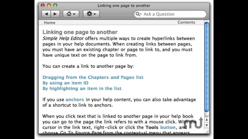 Simple Help Editor for Mac - review, screenshots