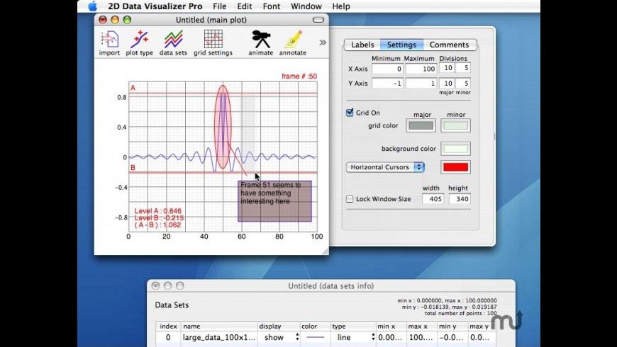 2D Data Visualizer Pro for Mac - review, screenshots