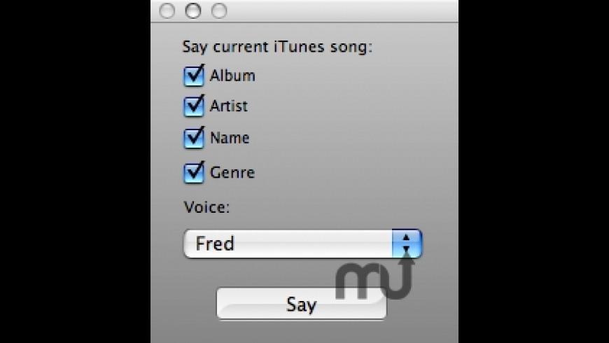 Say-iTunes for Mac - review, screenshots