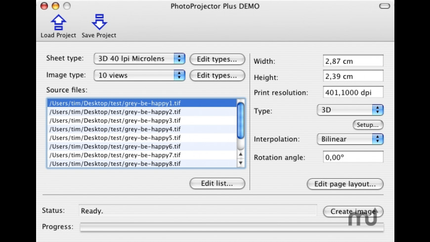 PhotoProjectorPlus for Mac - review, screenshots