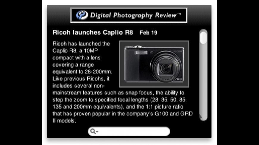 DPReview Widget for Mac - review, screenshots