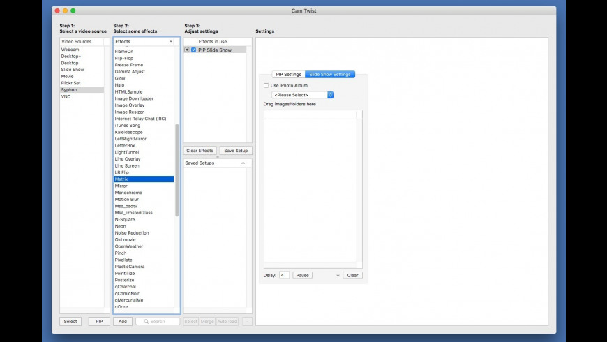 CamTwist for Mac - review, screenshots