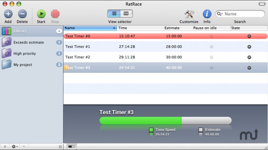RatRace for Mac - review, screenshots