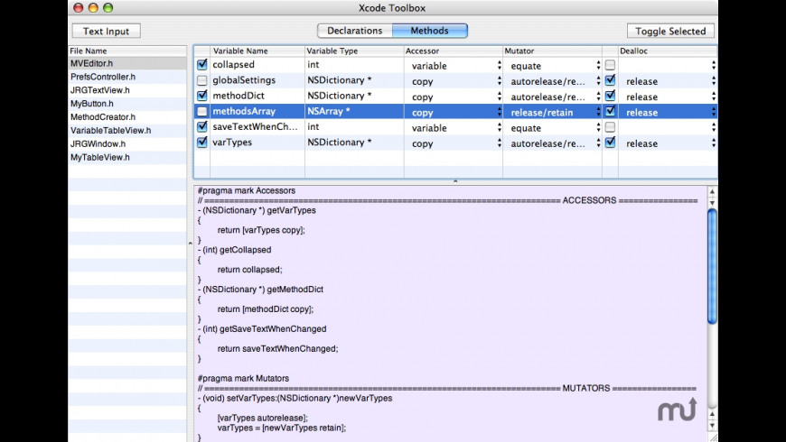 Xcode Toolbox for Mac - review, screenshots