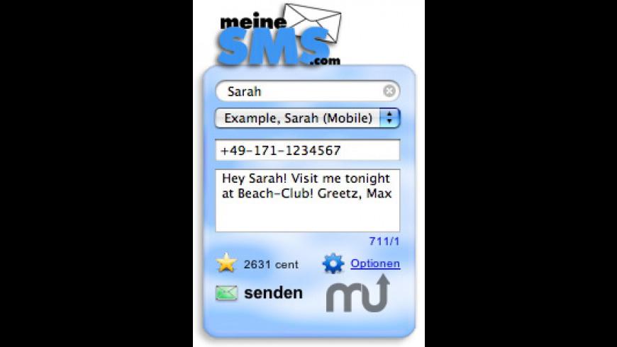 meineSMS Widget for Mac - review, screenshots