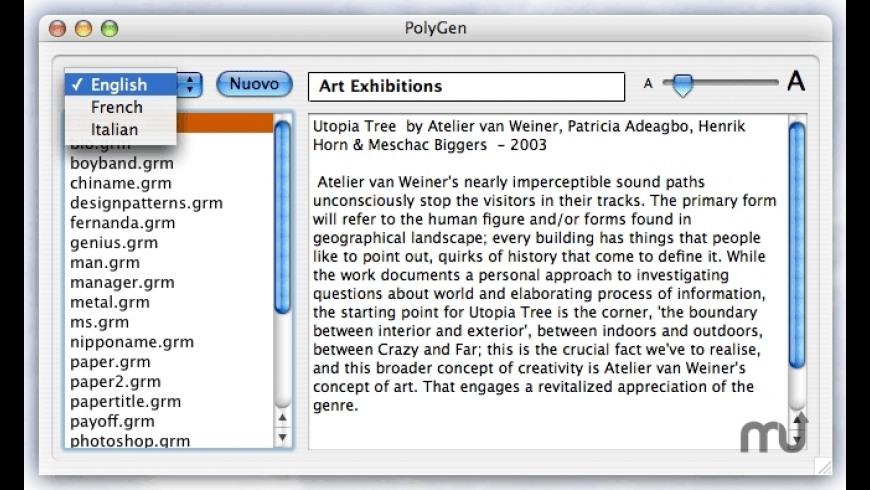 PolyGen for Mac - review, screenshots