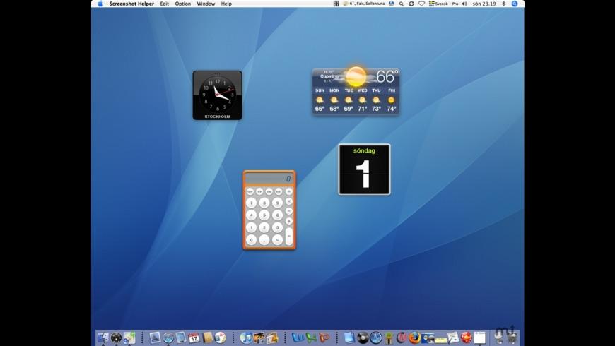 Widget-to-Desktop for Mac - review, screenshots