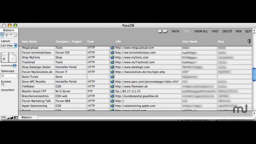 PassDB for Mac - review, screenshots