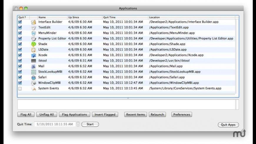 QuitsApps for Mac - review, screenshots