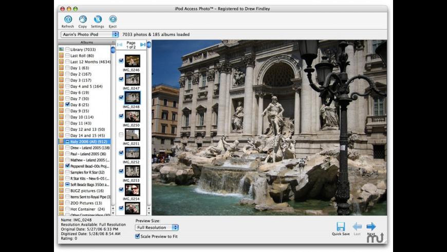 iPod Access Photo for Mac - review, screenshots