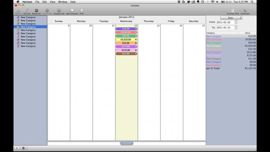 Horizon for Mac - review, screenshots