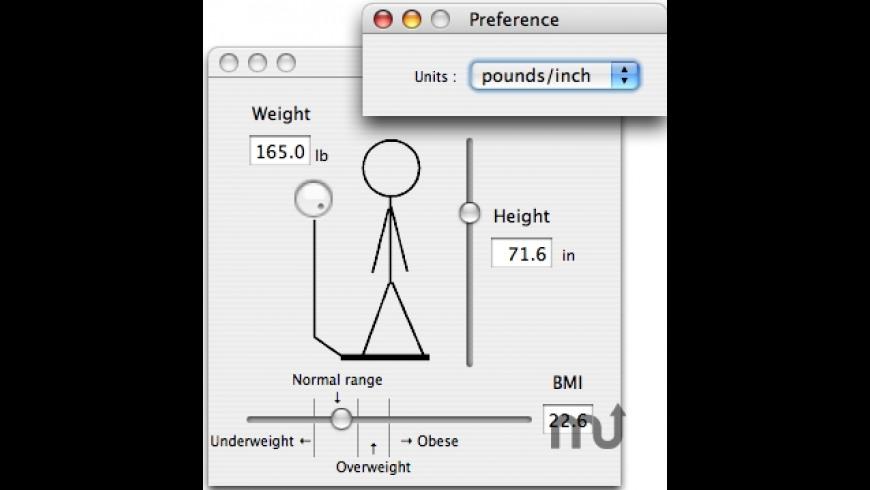 CalcBMI for Mac - review, screenshots