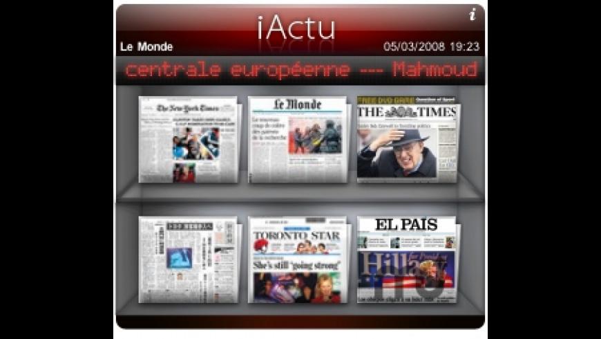iActu for Mac - review, screenshots