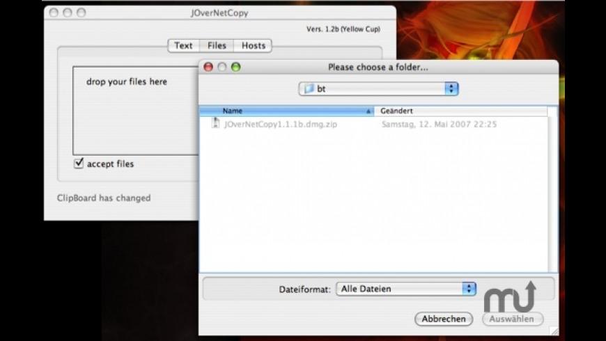 JOverNetCopy for Mac - review, screenshots