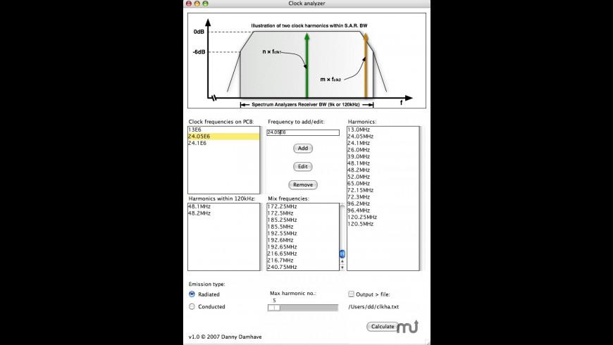 Clock analyzer for Mac - review, screenshots