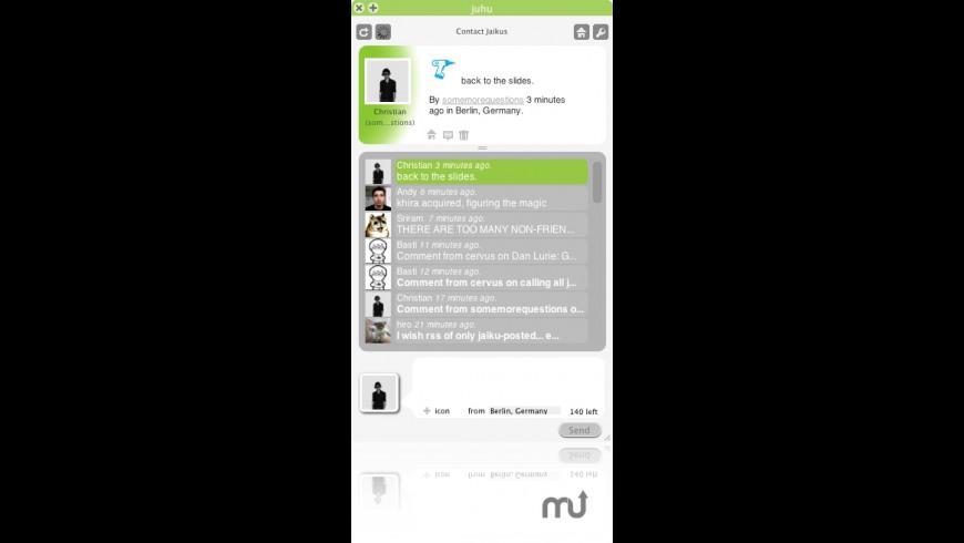 Juhu for Mac - review, screenshots