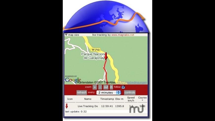 Live GPS Tracking Widget for Mac - review, screenshots