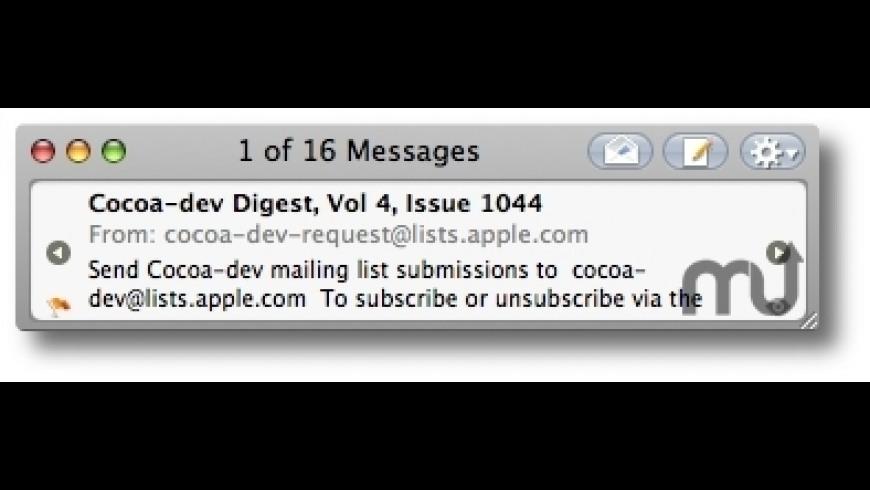 MiniMail for Mac - review, screenshots