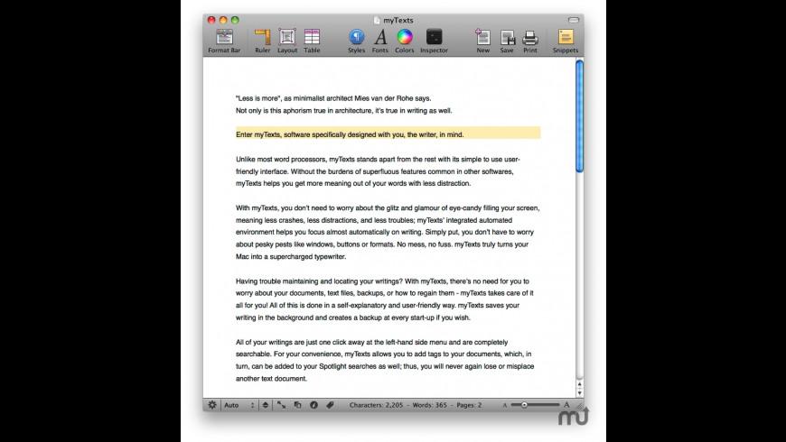 Schreiben for Mac - review, screenshots